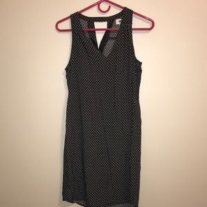 Old Navy Dresses - Sleeveless Black Dress with White Flowers + Dots